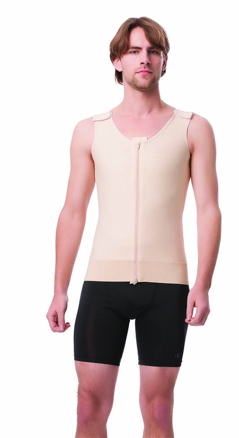CLG310 - Male Abdominal Cosmetic Surgery Compression Vest