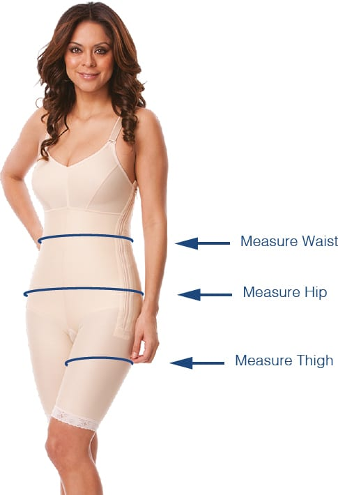 measure waist, hip and thigh